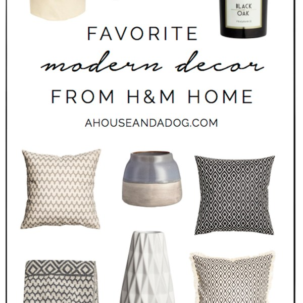 Modern Decor from H&M Home | ahouseandadog.com