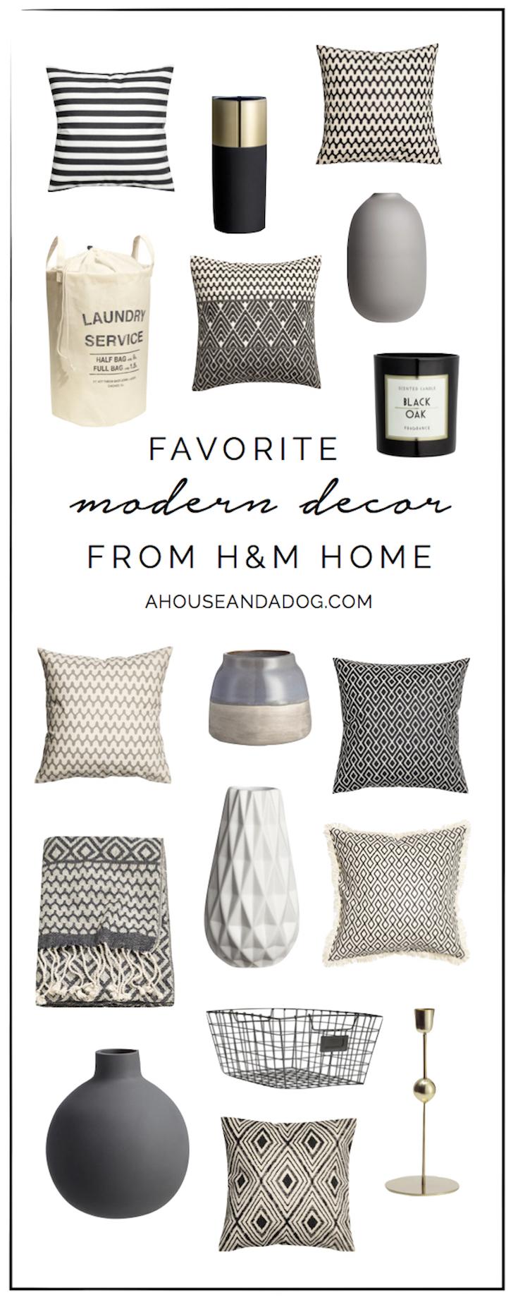 Modern Decor from H&M Home | ahouseandadog.com
