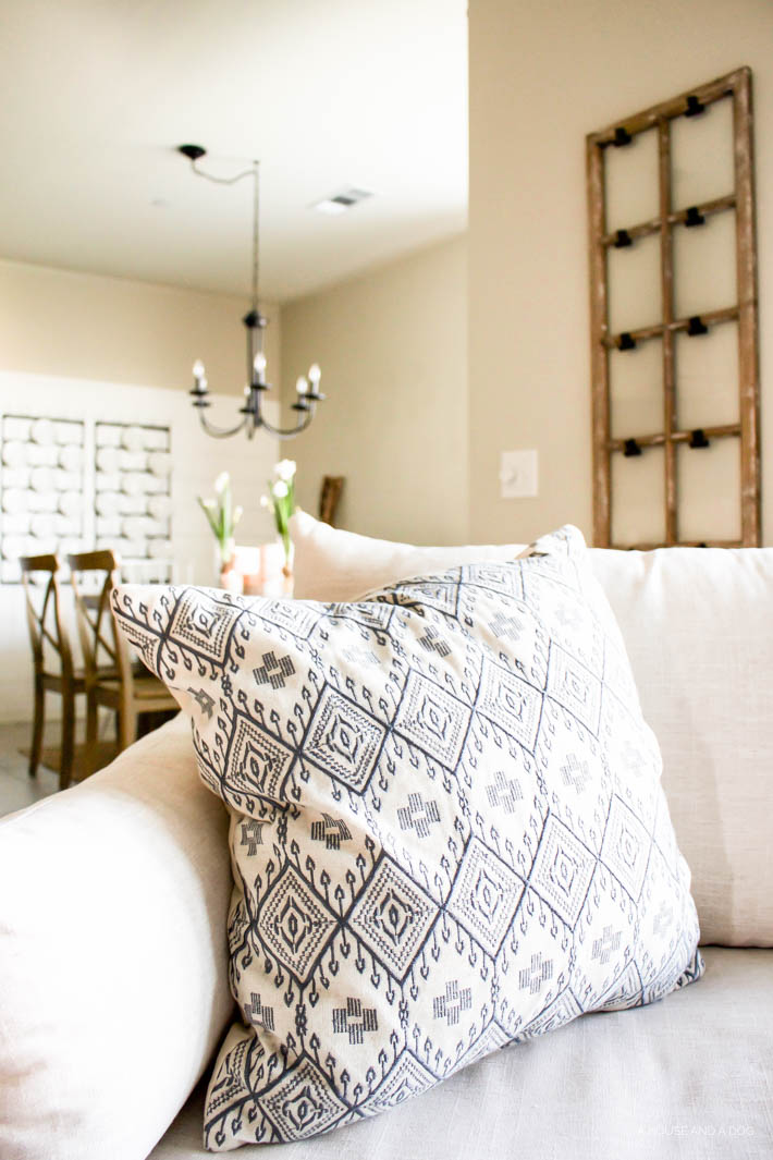 Spring Home Tour | 5 Ways to Decorate for Spring without Shopping | ahouseandadog.com
