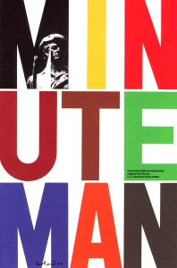 Affiche Minute Man de Paul Rand