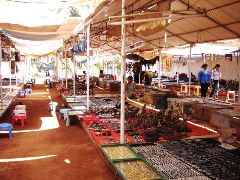 Flea market at Baga