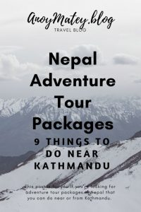 Himalaya excursions list and adventure tourism activities in Nepal