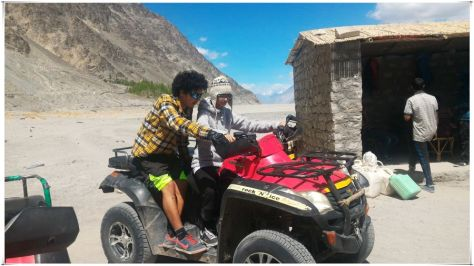 ATV ride on the sand dunes