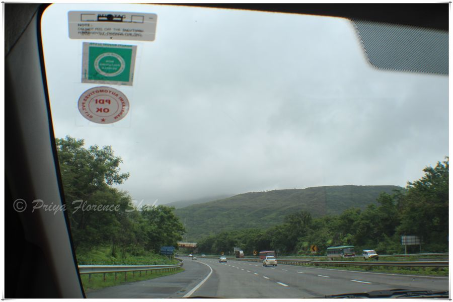 Driving towards Lonavala on the Expressway from Pune