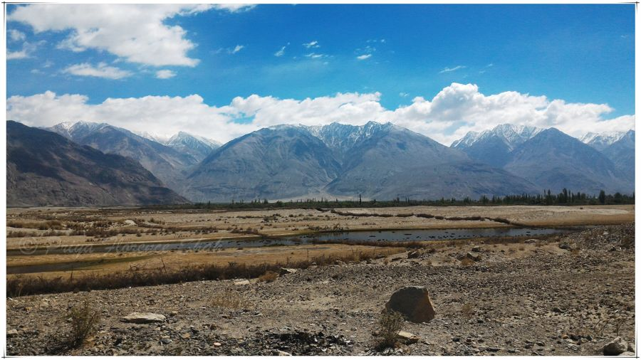 Rivers and rivulets run through Nubra Valley
