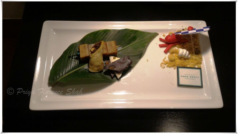 The delicious welcome platter with Goan sweets