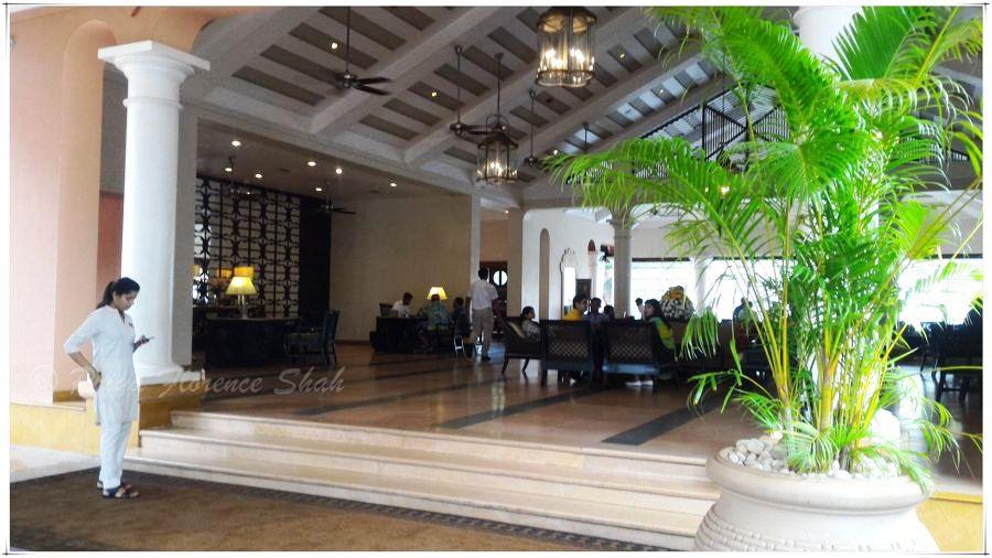 The lobby at the Park Hyatt Goa Resort and Spa