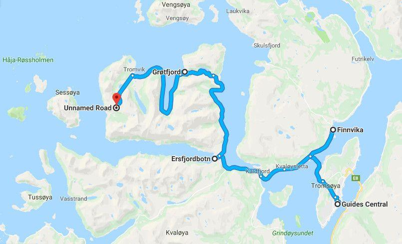 Our Aurora Chase Route with GuideGunnar