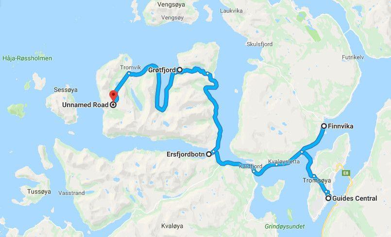 Our Aurora Chase Route with GuideGunnar