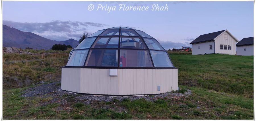 Glass igloo at Lyngen North