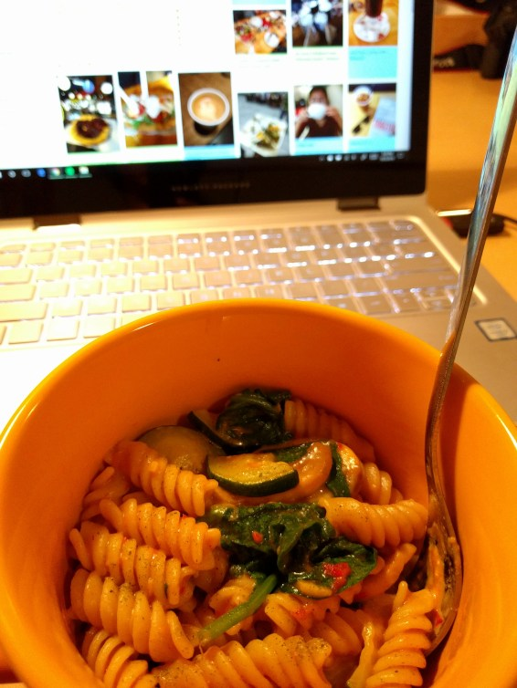 dinner and photo organizing