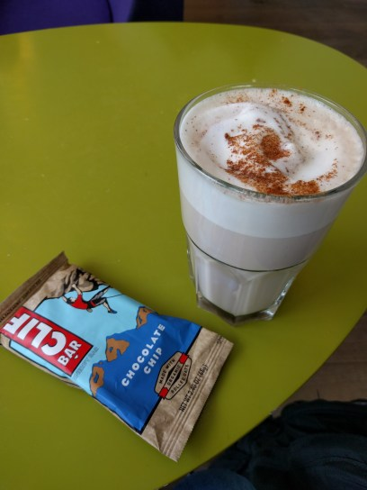 Clif bars pair well with chai
