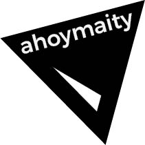 ahoymaity logo | the design is based on my affinity for triangles and the color black