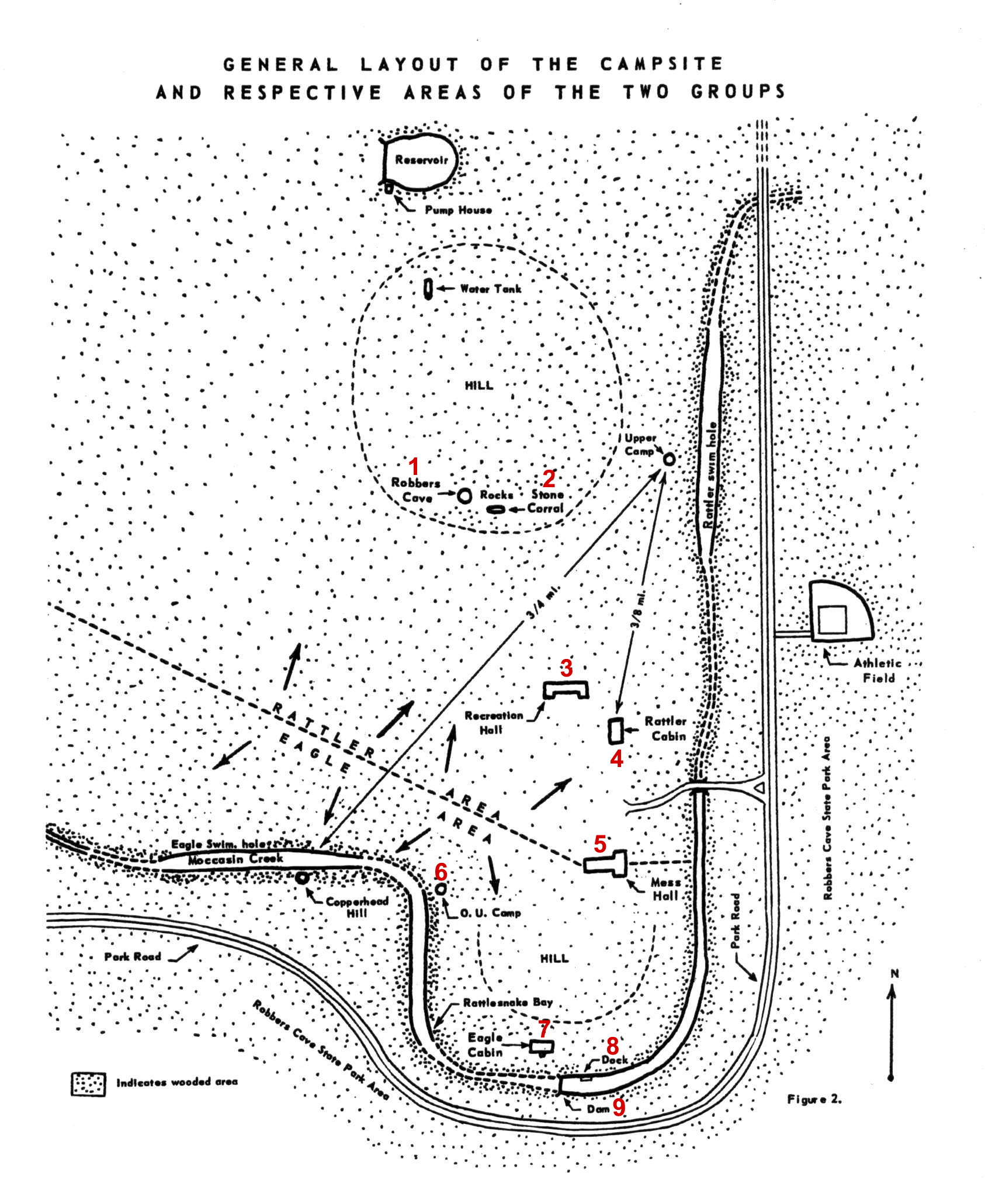 robbers cave map_legend