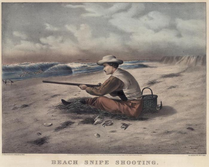 Currier & Ives, Beach Snipe Shooting
