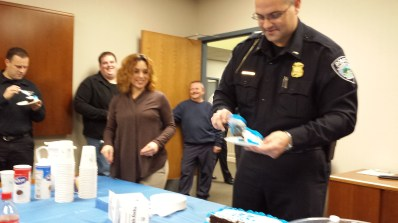 Lt Gagnon did the cake cutting honors