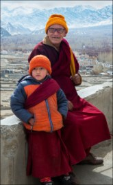 An orphan, Buddhist monk and his elderly caretaker.