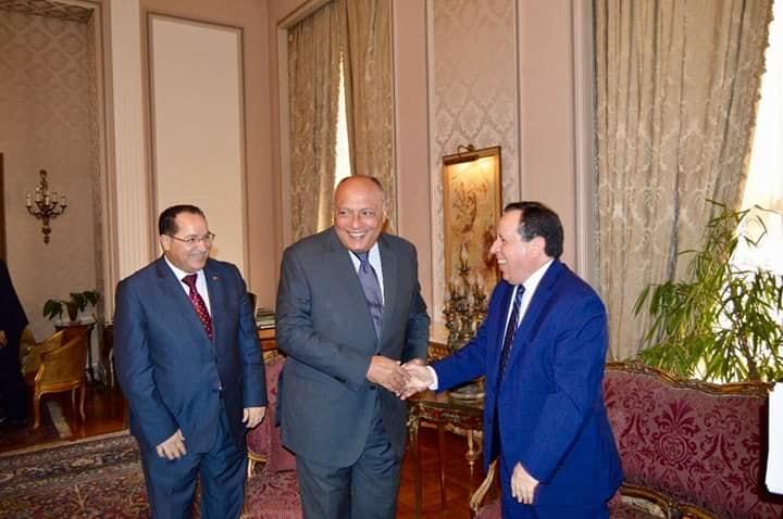 وزير الخارجية سامح شكري يلتقي نظيره التونسي في إطار أعمال آلية التشاور السياسي بين البلديّن