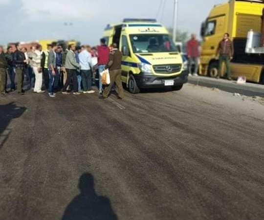تفاصيل حادث الطريق الزراعى: مصرع 6 أشخاص وإصابة 37 آخرين و10 ألاف جنيه لأسرة المتوفى