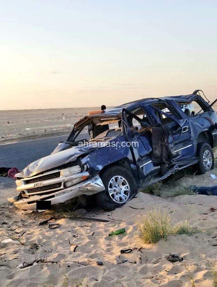 مصرع 2 وإصابة 9 شخصا في حادث انقلاب سيارة على «الأرتال» بالكويت