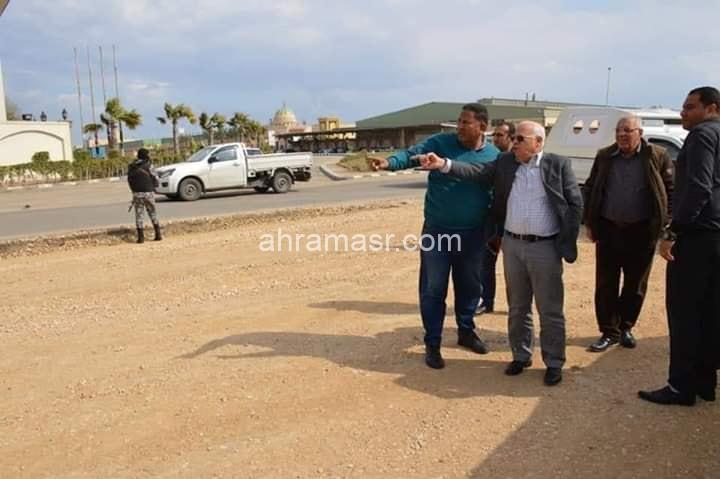 الغضبان : يتفقد اعمال التطوير بالمنطقة الصناعية ببورسعيد
