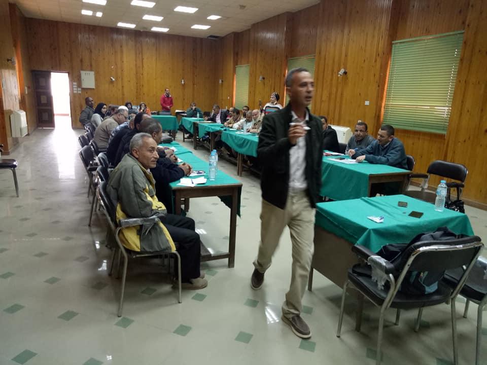 ورشة عمل تدريب مشروع نحو مجتمعات ريفية أكثر تكيفا بالفيوم ( ممول ايطالي).