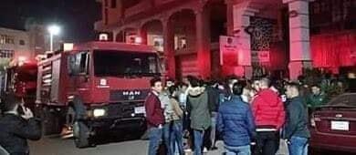 حريق هائل بمطعم بنت حميدو وإصابة 10 أشخاص بأختناق وصعوبة فى التنفس