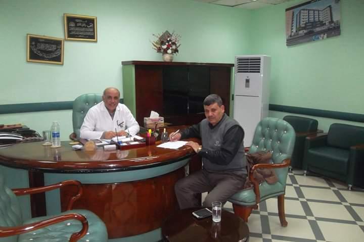 الجناينى في حوار صحفي مع البلكى مدير عام المعهد الطبي بدمنهور