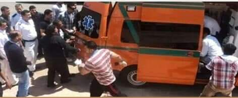 إصابة 23 شخصا في حادث تصادم اتوبيس بسيارة نقل بالاسكندرية