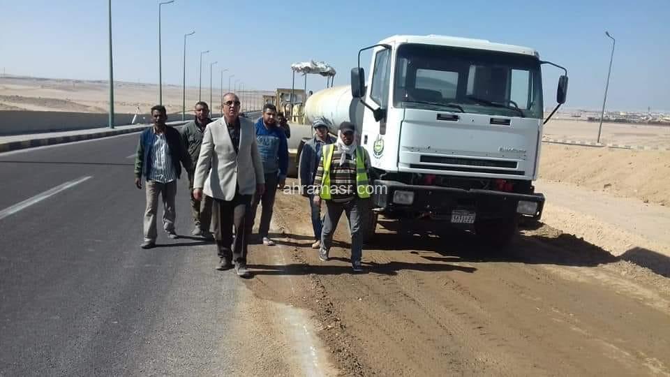 عبدالله يوجه بتوسعة طريق المطار فى كلا الإتجاهين