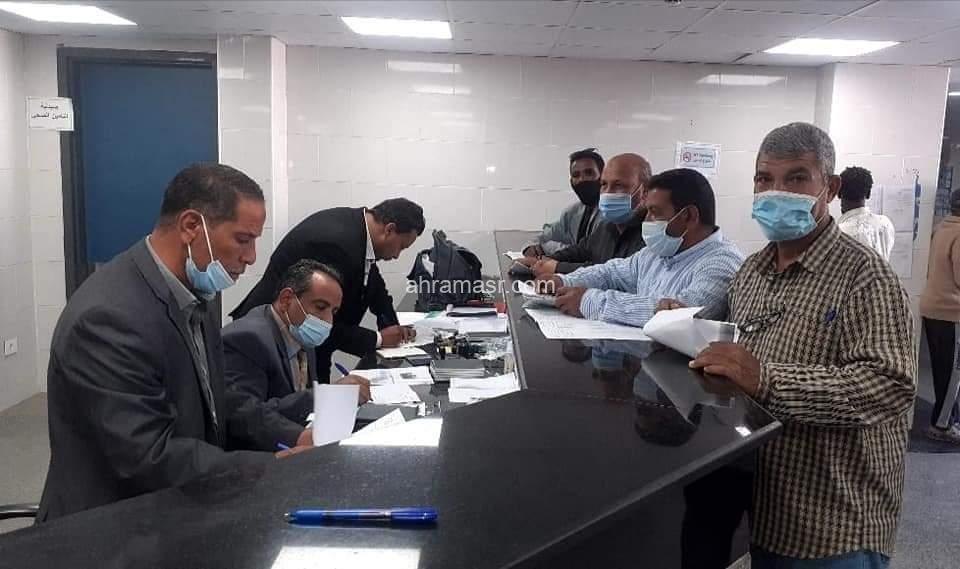 لجنة التامين الصحى تباشر اعمالها بمدينة الشلاتين