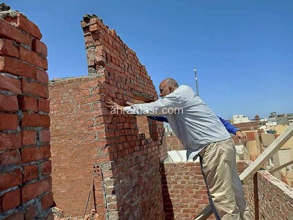 استمرار الازالات الفورية للمباني المخالفة بالمدينة