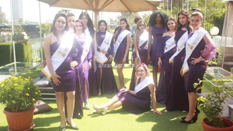 متسابقات ملكة مصر الدولية يتالقن باللون البنفسجي كتبت د. رانيا عثمان