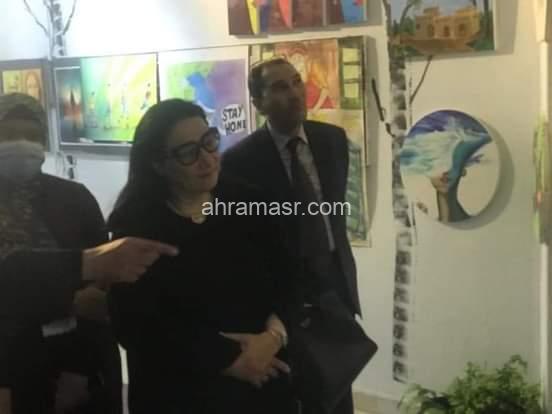 بالصور :أكاديمية طيبة بالمعادي تفتتح معرض الفن التشكيلي عن العام الدراسي الحالى