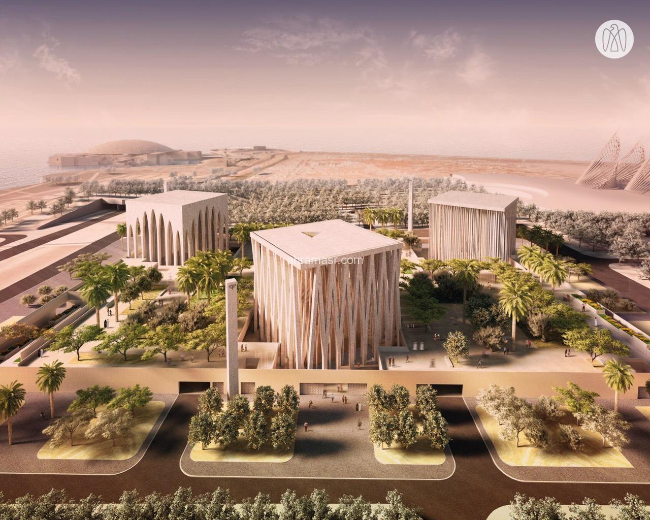نسبة الأعمال الإنشائية بـ بيت العائلة الإبراهيمية 20%.. يفتتح في أبوظبي عام 2022