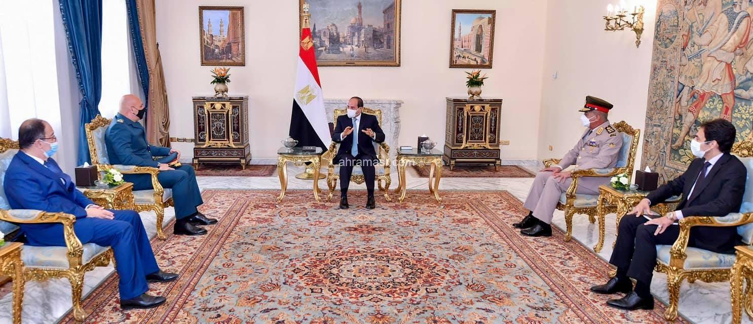 السيسي يستقبل العماد جوزيف عون قائد الجيش اللبناني