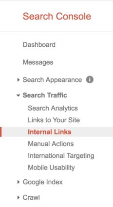 GSC Internal Links