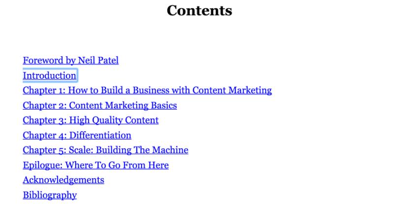 Content machine contents