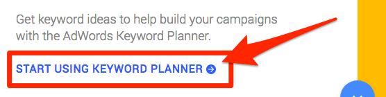 empezar a usar el planificador de palabras clave