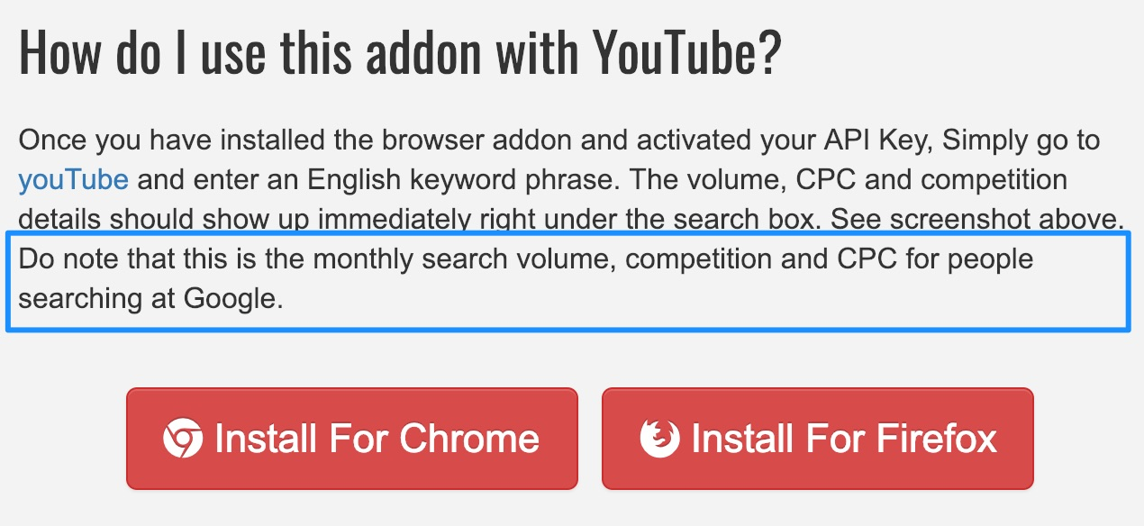 keywords everywhere search volume description