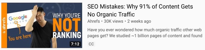 thumbnail complementing title on yotuube