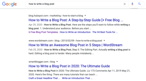 14 how to write a blog post serp
