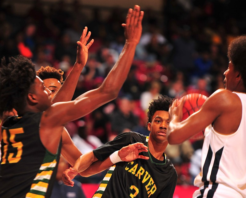 CLASS 6A BOYS' CHAMPIONSHIP Carver-Montgomery 74, Paul Bryant 59
