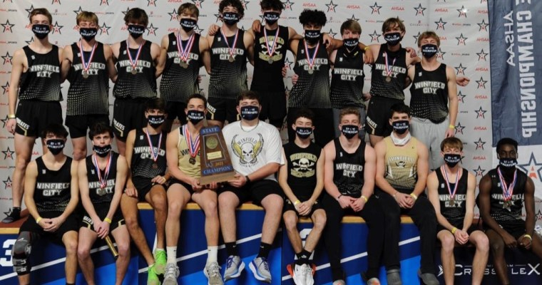 Winfield, Providence Christian Capture AHSAA 1A/3A Indoor Track Championships
