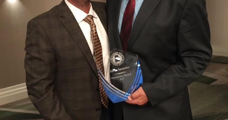 ASWA Bestows Inaugural Presidents' Award to AHSAA Retiring Executive Director Steve Savarese