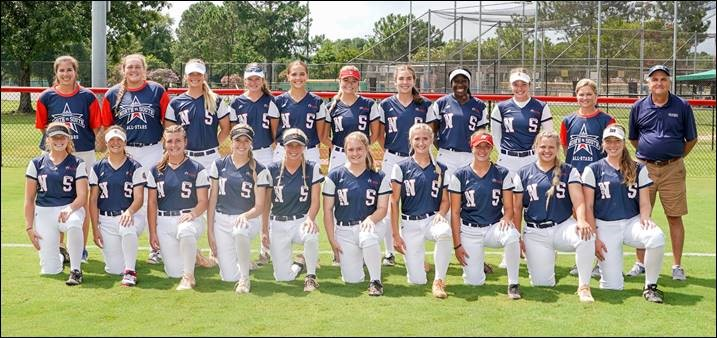 North Beats South 11-8 in 8 Innings in First Game of All-Star Softball Doubleheader