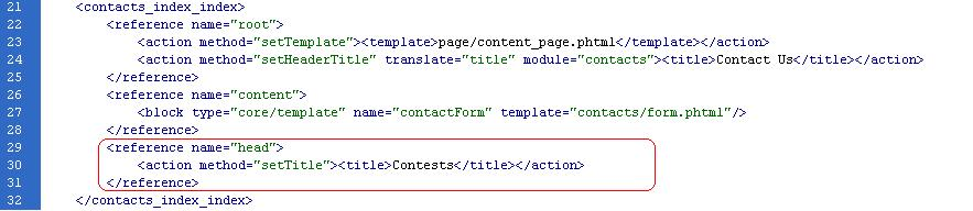 Magento::Change page Title of Magento Module