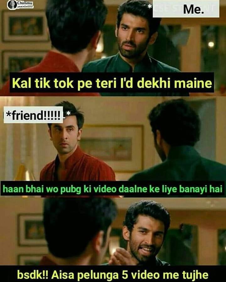 Me Kal Tiktok Pe Teri I D Dekhi Maine Meme Hindi Memes