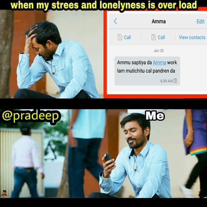 When My Stress And Lonelyness Is Over Head Meme Tamil Memes