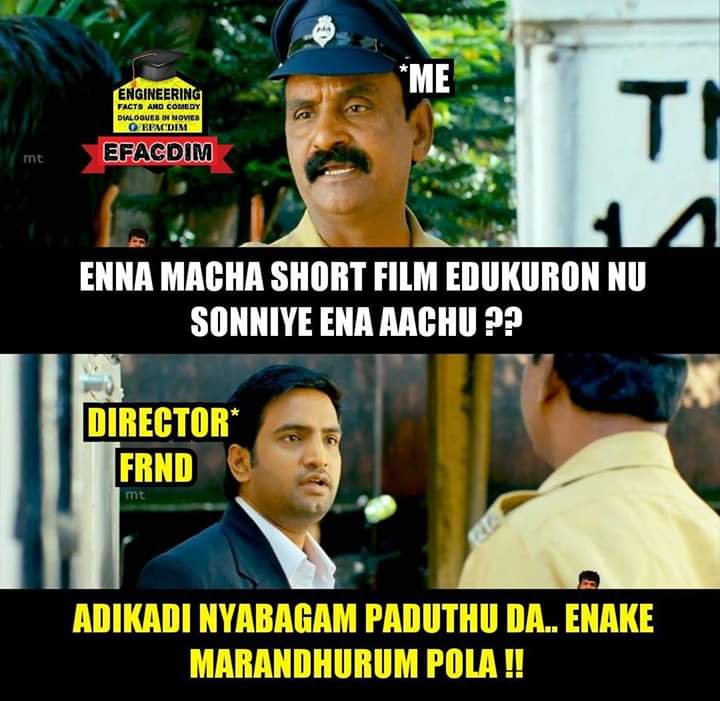 While Discussing About Story Of His Short Film Meme Tamil Memes